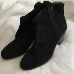 NEW Sam Edelman Black Suede Ankle Booties